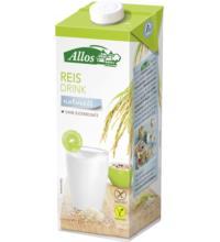 Allos Reis Drink naturell, 1 ltr Tetra Pack