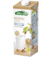 Allos Mandel Drink naturell, ungesüßt, 1 ltr Tetra Pack ungesüßt