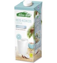 Allos Reis-Kokos Drink naturell, 1 ltr Packung