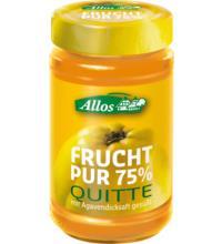Allos Frucht Pur Quitte, 250 gr Glas -75% Fruchtanteil-