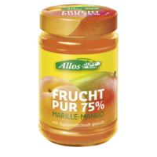 Allos Frucht Pur Marille-Mango, 250 gr Glas -75% Fruchtanteil-