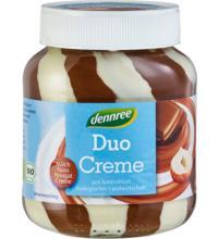 dennree Milch- & Nuss-Nougat-Duo-Creme, 400 gr Glas