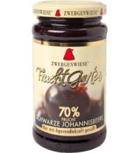Zwergenwiese FruchtGarten Schwarze Johannisbeere, 225 gr Glas -70% Fruchtanteil-
