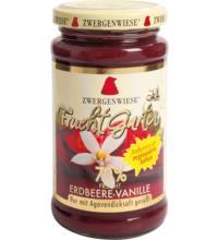 Zwergenwiese FruchtGarten Erdbeere-Vanille, 225 gr Glas -70% Fruchtanteil-