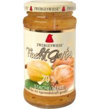 Zwergenwiese FruchtGarten Stachelbeere, 225 gr Glas -70% Fruchtanteil-