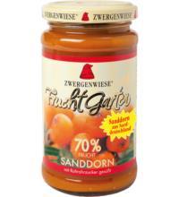 Zwergenwiese FruchtGarten Sanddorn, 225 gr Glas -70% Fruchtanteil-