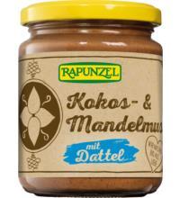 Rapunzel Kokos- & Mandelmus mit Dattel, 250 gr Glas