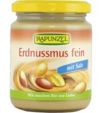 Rapunzel Erdnussmus Crunchy mit Salz, 250 gr Glas