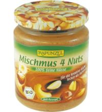 Rapunzel Mischmus 4 Nuts, 250 gr Glas