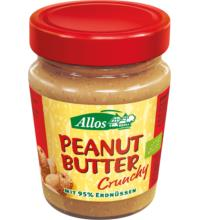 Allos Peanut Butter Crunchy, 227 gr Glas