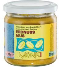 Monki Erdnussmus, 330 gr Glas
