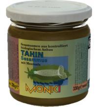 Monki Tahin mit Salz, 330 gr Glas - dunkel -