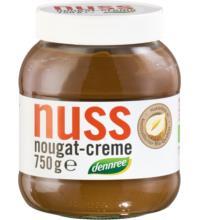 dennree Nuss Nougat Creme, 750 gr Glas -13% Haselnussanteil-