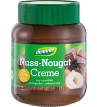 dennree Nuss Nougat Creme, 400 gr Glas -20% Haselnussanteil-