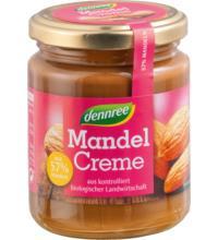 dennree Mandel Creme, 250 gr Glas - 57% Mandelanteil -