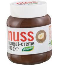 dennree Nuss Nougat Creme, 400 gr Glas -13% Haselnussanteil-