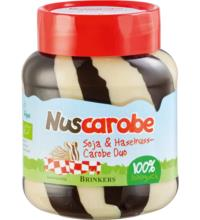 Nuscarobe Haselnuss-Carob & Soja Duo, 400 gr Glas