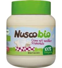 Nuscobio Weiße Schoko Creme, 400 gr Glas
