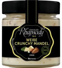 Rhapsody Crunchy Mandel Creme Weiß, 200 gr Glas