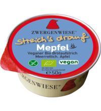 Zwergenwiese Kleiner streich´s drauf Mepfel, 50 gr Packung - Meerrettich / Apfel -
