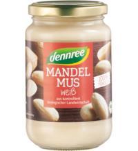 dennree Mandelmus weiß, 350 gr Glas