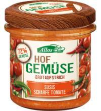 Allos Hof-Gemüse Susis scharfe Tomate, 135 gr Glas