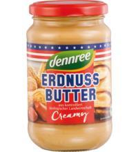 dennree Erdnussbutter Creamy, 350 gr Glas