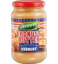 dennree Erdnussbutter Crunchy, 350 gr Glas