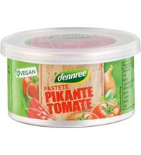 dennree Pastete Pikante Tomate, 125 gr Dose
