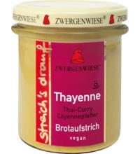 Zwergenwiese streich`s drauf Thayenne, 160 gr Glas - Thai Curry / Cayennepfeffer -