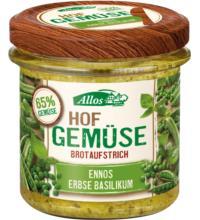 Allos Hof-Gemüse Ennos Erbse Basilikum, 135 gr Glas