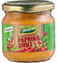dennree Streichcreme Paprika Chili, 180 gr Glas