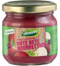 dennree Streichcreme Rote Bete Meerrettich, 180 gr Glas