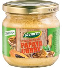 dennree Streichcreme Papaya Curry, 180 gr Glas