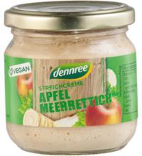 dennree Streichcreme Apfel Meerrettich, 180 gr Glas