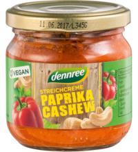 dennree Streichcreme Paprika Cashew, 180 gr Glas