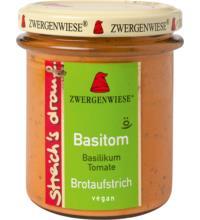 Zwergenwiese streich`s drauf Basitom, 160 gr Glas - Basilikum / Tomate -