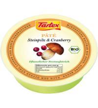 Tartex Pâté Steinpilz & Cranberry, 75 gr Schale