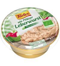 Tartex wie pfälzer Leberwurst, 120 gr Schale