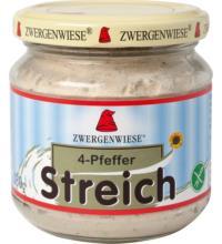 Zwergenwiese 4-Pfeffer Streich, 180 gr Glas