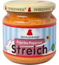 Zwergenwiese Paprika-Peperoni Streich, 180 gr Glas