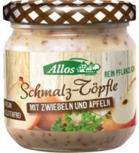 Allos Schmalz-Töpfle mit Zwiebeln und Apfel, 150 gr Glas