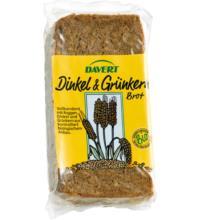 Davert Grünkern-Dinkelbrot, 500 gr Packung
