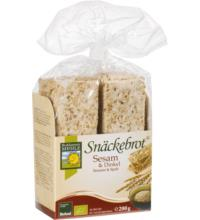 Bohlsener Sesam & Dinkel Snäckebrot, 200 gr Packung