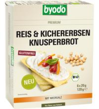 byodo Reis & Kichererbsen Knusperbrot, 120 gr Packung -glutenfrei-