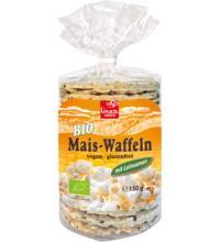 linea natura Maiswaffel & Leinsamen, 150 gr Packung -glutenfrei-