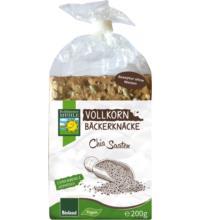 Bohlsener Vollkorn Bäckerknäcke Chia Saaten, 200 gr Packung