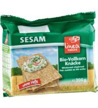linea natura Sesam Vollkorn Knäcke, 200 gr Packung