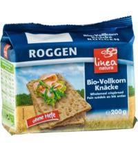 linea natura Roggen Vollkorn Knäcke, 200 gr Packung