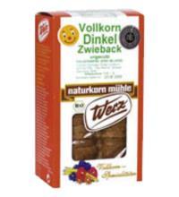 Werz Dinkel-Vollkorn-Zwieback, ungesüßt, 175 gr Packung